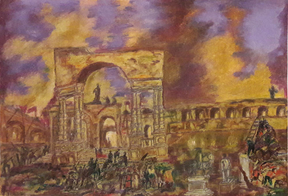 Exodus III the last battle....pastel and acrylic..
